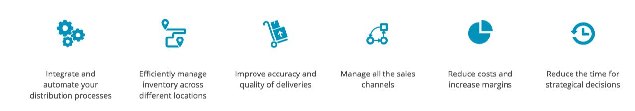 Benefits ERP distribution