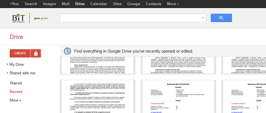 Google Apps for work. Google drive
